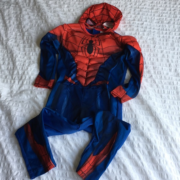 Spiderman costume toddler size 2-4Y
